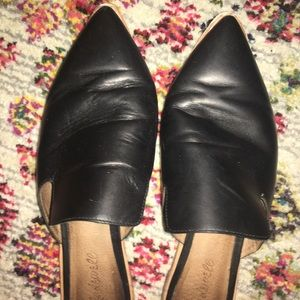 Madewell Shoes - Madewell Gemma Mule Slide Black Leather 9